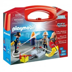 PLAYMOBIL 5651 City Action Walizeczka - STRAŻACY
