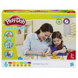 HASBRO B3408 - Ciastolina Play-Doh - MODELUJ I UCZ SIĘ - FAKTURY I NARZĘDZIA
