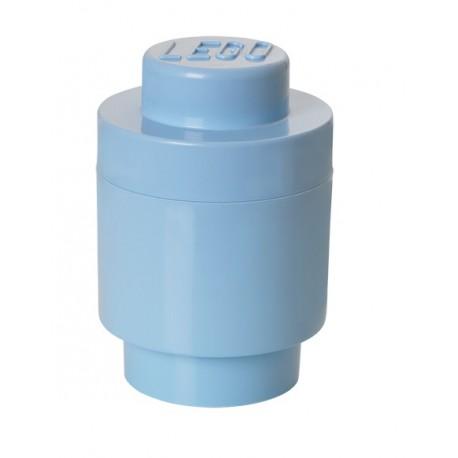 LEGO Pojemnik Okrągły Pudełko na Zabawki Klocki Błękitny