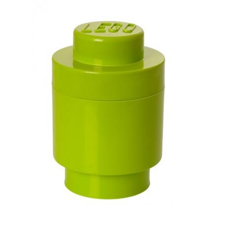 LEGO Pojemnik Okrągły Pudełko na Zabawki Klocki Limonka