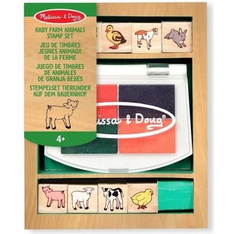 Melissa & Doug - 11639 - Pieczątki - Mini Zestaw Pieczątek - Zwierzęta Domowe