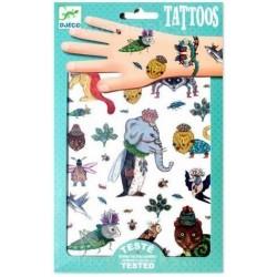 DJECO 09580 - Zestaw Tatuaży - Tatuaże - FANTAZYJNE ZWIERZĘTA