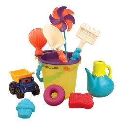 B.TOYS BX1307Z - Zestaw do Piasku w Torbie - B. READY BEACH BAG