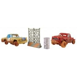 MATTEL FBH12 DYB13 - Disney Pixar Cars - ZWARIOWANA ÓSEMKA - JUMBO I T-BONE