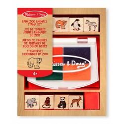 Melissa & Doug - 11638 - Pieczątki - Mini Zestaw Pieczątek - Zwierzęta Zoo