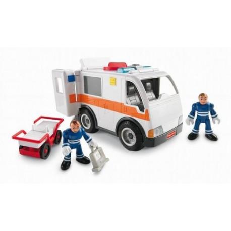 Fisher-Price - BDY39 - Imaginext - Karetka Pogotowia - Ambulans z Dźwiękami