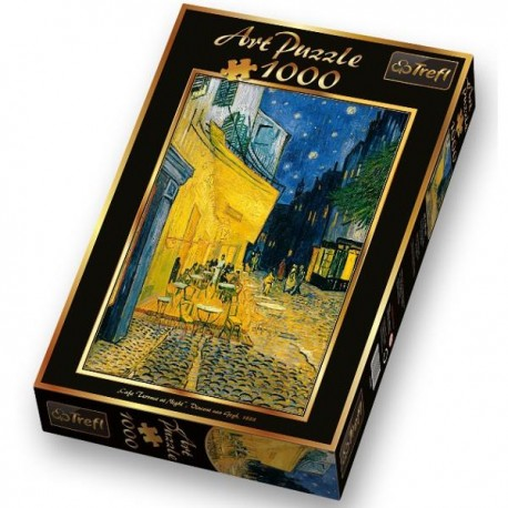 Trefl - 10290 - Art Puzzle 1000 - ''Kawiarniany Taras Nocą'' Vincent van Gogh 1888