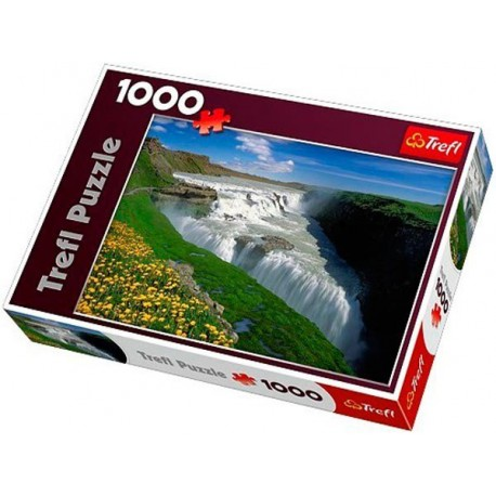 Trefl - 10314 - Puzzle 1000 - Złote Wodospady, Islandia