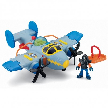 Fisher-Price - X5248 - X5250 - Imaginext - Samolot - Tornado
