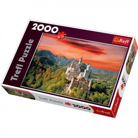 Trefl - 27050 - Puzzle 2000 - Zamek Neuschwanstein, Bawaria, Niemcy