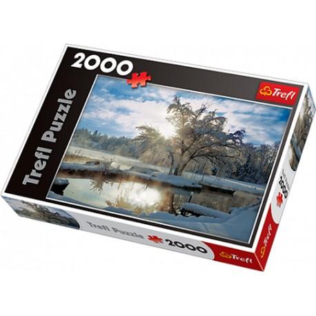 Trefl - 27044 - Puzzle 2000 - Poranek Nad Jeziorem