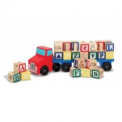 Melissa & Doug - 15175 - Drewniana Ciężarówka z Literami