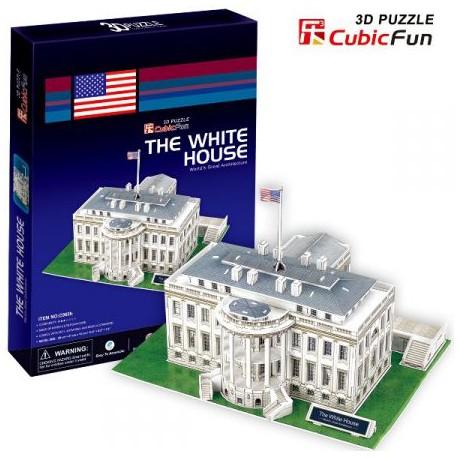 Cubic Fun - CUB01036 - Puzzle 3D 60 - Biały Dom