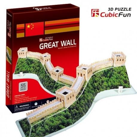 Cubic Fun - CUB01039 - Puzzle 3D 55 - Wielki Mur Chiński