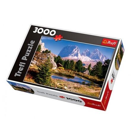 Trefl - 33012 - Puzzle 3000 - Jeziorko w Dolomitach