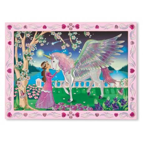 Melissa & Doug - 14296 - Naklejki - Mozaika do Wyklejania - Jednorożec