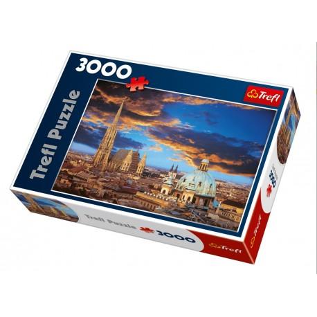 Trefl - 33016 - Puzzle 3000 - Wieczór w Wiedniu