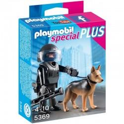 PLAYMOBIL 5369 Special Plus - POLICJANT JEDNOSTKI SPECJALNEJ Z PSEM
