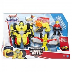 HASBRO C0296 C0212 - Playskool Heroes - TRANSFORMERS RESCUE BOTS - BUMBLEBEE ROCK RESCUE TEAM