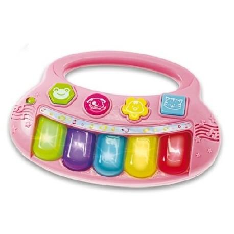 Smily Play - 2007G - Pianinko - Dziecięcy Keyboard - Różowy