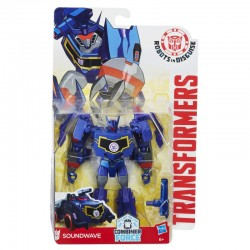 HASBRO C1080 B0070 - Robots in Disguise - TRANSFORMERS COMBINER FORCE - SOUNDWAVE