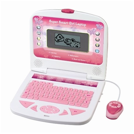 Smily Play - 8056G - Laptop Mądra Główka - Różowy