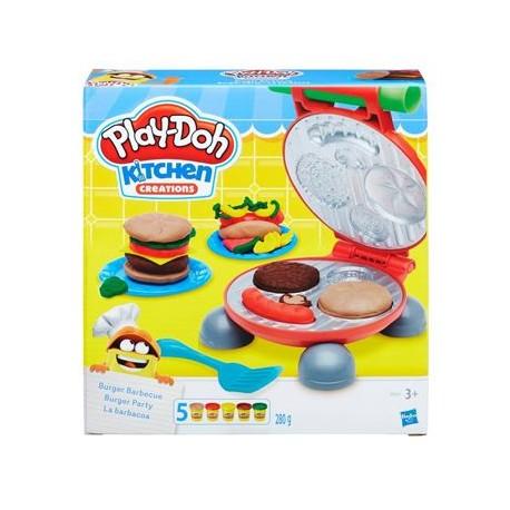 HASBRO B5521 - Ciastolina Play-Doh - Kuchenne Kreacje - HAMBURGEROWE PARTY