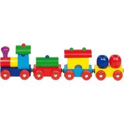 Goki - 55974 - Drewniany Pociąg Towarowy - Peru