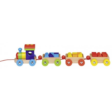 Goki - 55950 - Drewniany Pociąg z Klockami