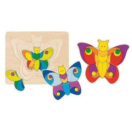 Goki - 57899 - Układanka - Puzzle Warstwowe 11 - Motyl