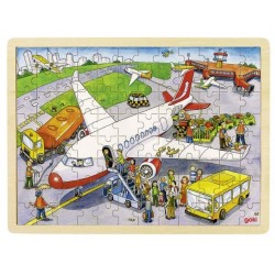 Goki - 57544 - Puzzle Drewniane 96 - Lotnisko