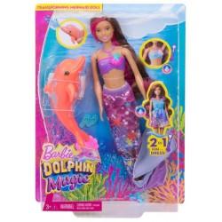 MATTEL FBD64 - Barbie i Delfiny z Magicznej Wyspy - BRUNETKA SYRENKA