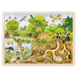 Goki - 57582 - Puzzle Drewniane 96 - Las