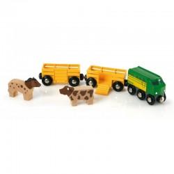 BRIO 33404 Pociąg ze zwierzątkami FARMA