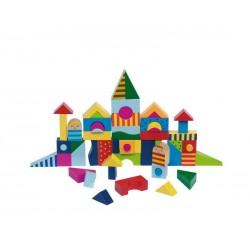 Goki - 58964 - Drewniane Klocki - Mozaika - Zamek