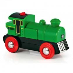 BRIO 33595 Zielona lokomotywa - PAROWÓZ NA BATERIE