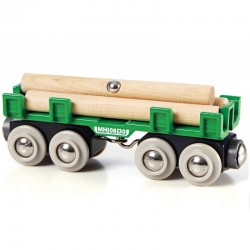 BRIO 33696 Kolejka drewniana WAGON Z DREWNEM