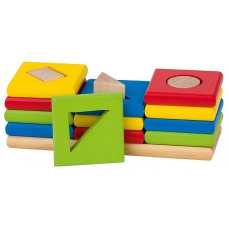 Goki - 58647 - Drewniany Sorter 3 Kształtów