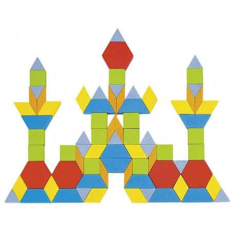 Goki - 58557 - Drewniane Klocki - Mozaika w Wiaderku