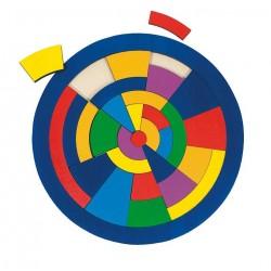 Goki - 57849 - Drewniane Puzzle 29 - Mozaika - Koło