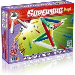 SUPERMAG MAXI Magnetyczne Klocki Konstrukcyjne CLASSIC 22 el. 0101