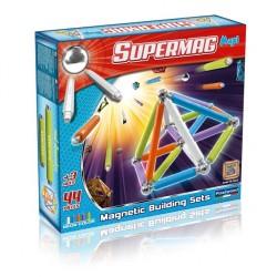 SUPERMAG MAXI Magnetyczne Klocki Konstrukcyjne NEON 44 el. 0115