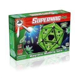SUPERMAG MAXI Magnetyczne Klocki Konstrukcyjne ŚWIECĄCE W CIEMNOŚCI GLOW 66 el. 0118