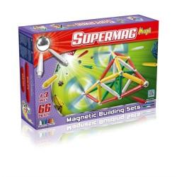 SUPERMAG MAXI Magnetyczne Klocki Konstrukcyjne CLASSIC 66 el. 0103