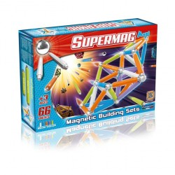 SUPERMAG MAXI Magnetyczne Klocki Konstrukcyjne NEON 66 el. 0116