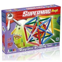 SUPERMAG MAXI Magnetyczne Klocki Konstrukcyjne CLASSIC 92 el. 0108