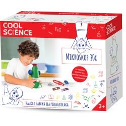 TM TOYS DKN4003 COOL SCIENCE - Zestaw Nauka i Zabawa dla Przedszkolaka - MIKROSKOP 30X