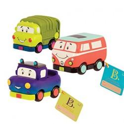 B.TOYS BX1658Z - Mini Wheeee-Ls! Zestaw Trzech Pojazdów - WESOŁE SAMOCHODZIKI