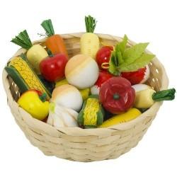 Goki - 51662 - Kosz z Drewnianymi Warzywami