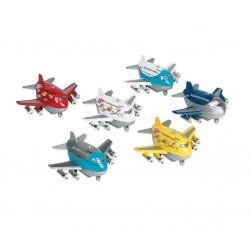 Goki - 12078 - Samolot pull-back dla dzieci - Beczułka